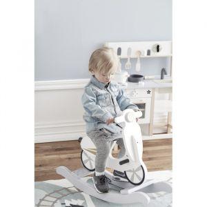 Rocking scooter grijs/wit Kids Concept