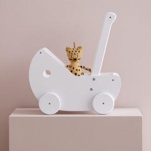 Houten kinderwagen met bedset wit Kids Concept