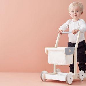 Houten winkelwagen wit Kids Concept