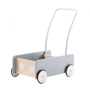 Houten wandelwagen blauw-grijs Kids Concept