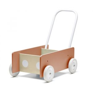 Houten loopwagen donker abrikoos Kids Concept
