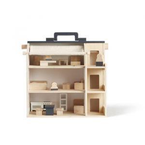 Houten poppenhuis met meubels Aiden Kids Concept
