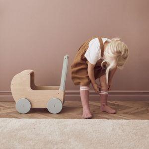 Houten poppenwagen natural Kids Concept