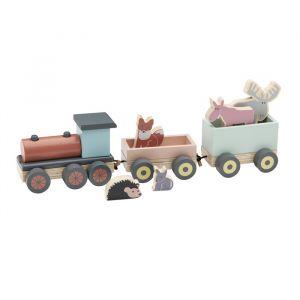 Houten speeltrein met diertjes Kids Concept