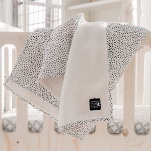 Babydeken Soft Teddy Cozy Dots offwhite Mies & Co
