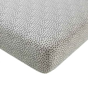 Hoeslaken wieg Cozy Dots offwhite (40x80cm) Mies & Co