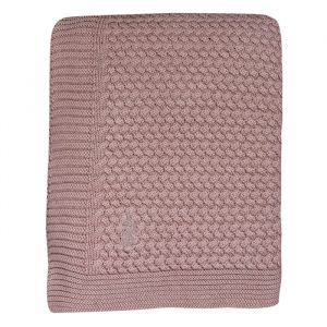 Ledikantdeken gebreid Pale Pink Mies & Co