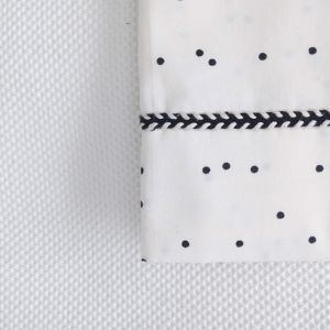 Ledikantlaken Adorable Dots offwhite Mies & Co
