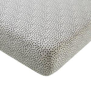 Hoeslaken ledikant Cozy Dots offwhite Mies & Co
