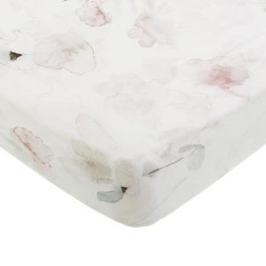 Hoeslaken wieg Forever Flower offwhite Mies & Co