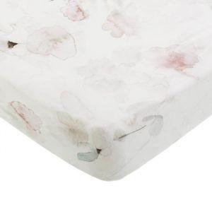 Hoeslaken ledikant Forever Flower offwhite Mies & Co