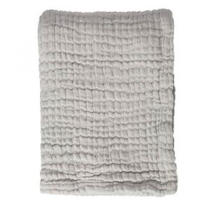 Babydeken Soft Mouseline Gentle Grey Mies & Co