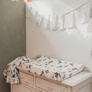 Aankleedkussenhoes Fika Butterfly offwhite Mies & Co