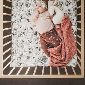 Mies & Co Babydeken honingraat Vintage Cherry
