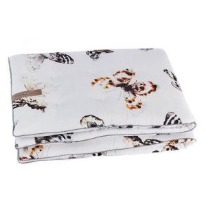 Mies & Co Boxkleed Fika Butteryfly offwhite 80x100cm