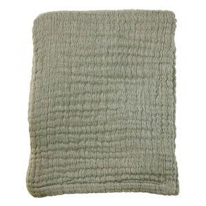 Ledikantdeken Soft Mousseline Thyme Green Mies & Co