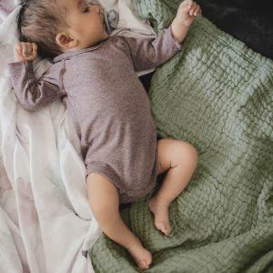 Babydeken Soft Mousseline Thyme Green Mies & Co
