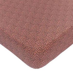 Hoeslaken wieg Cozy Dots redwood Mies & Co