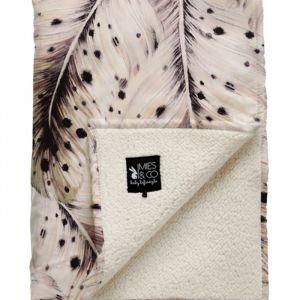 Wiegdeken Soft Teddy Soft Feather offwhite Mies & Co