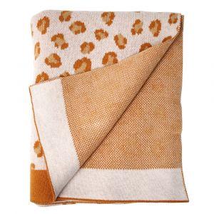 Babydeken Leopard okergeel/bruin Eef Lillemor