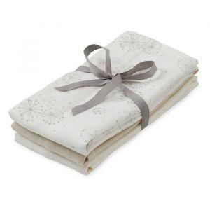 Hydrofiele doeken Dandelion, light sand & creme (3st) CamCam