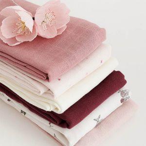 Hydrofiele doeken Etoile roze (2st) CamCam