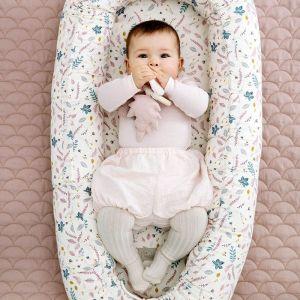 Babynest Pressed Leaves roze CamCam