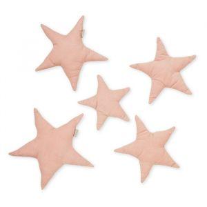 Muurdecoratie stoffen sterren Blossom Pink (5st) CamCam