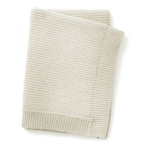 Deken gebreid wol Vanilla White Elodie Details
