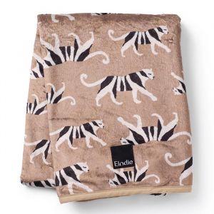 Pearl Velvet deken White Tiger Warm Sand Elodie Details