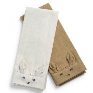 Baby servetset (2st) Lily White Elodie Details