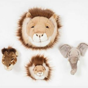 Mini dierenkoppen Safari giftset Wild&Soft