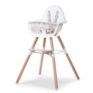 Evolu 2 Stoel 2-in-1 met beugel naturel Childhome
