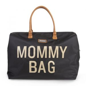 Mommy Bag groot zwart-goud Childhome