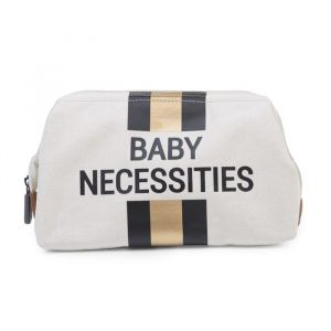 Toilettasje Baby Necessities canvas zwart-goud Childhome