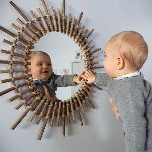 Rotan spiegel Fondi 60cm Childhome