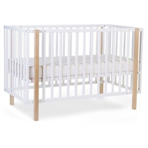 Ledikant Scandi 122 naturel-wit (60x120cm) Childhome