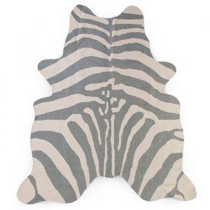 Vloerkleed Zebra grijs (145x160cm) Childhome