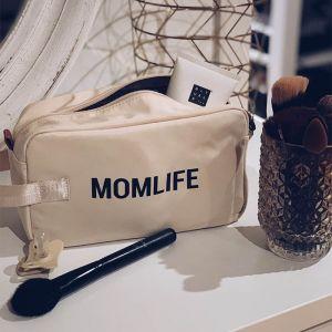 Toilettasje Momlife ecru-zwart Childhome