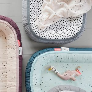 Babynest Plus Happy Dots grey Done by Deer
