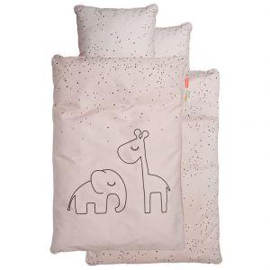 Beddengoed Dreamy Dots powder roze 100x140cm Done by Deer