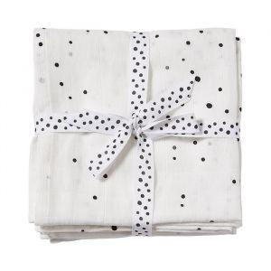Hydrofiele doeken Dreamy Dots wit (2st) Done by Deer