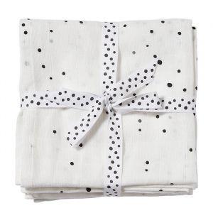 Hydrofiele doeken XL Dreamy Dots wit (2st) Done by Deer