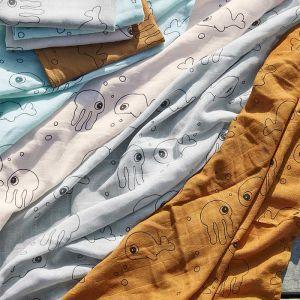 Hydrofiele doeken XL Sea Friends grijs (2st) Done by Deer