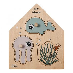 Houten legpuzzel Sea Friends Done by Deer