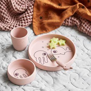 Babydeken wafel roze Done by Deer