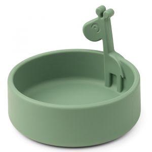 Siliconen kom Peekaboo Raffi green Done by Deer