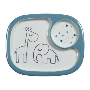 Yummy mini bord met vakken Dreamy Dots blauw Done by Deer
