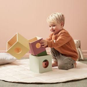 Houten stapelblokken groot Edvin mix Kids Concept