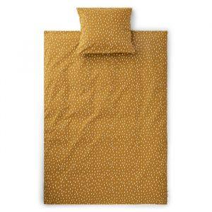 Beddengoed Ingeborg Graphic stroke/golden caramel Liewood